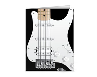 Electric Guitar Blank Note Cards (6 cards, 6 envelopes)