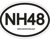 Car sticker decal NH48 hiking hikers hike new england 4000 footers