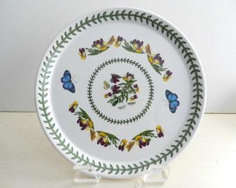 Vintage Portmeirion Botanic Garden Buffet Dinner Plate 10.5 inch heartsease viola tricolor