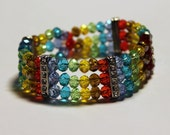 LGBTQ Gay Pride Lesbian Sparkle Beaded Bracelet