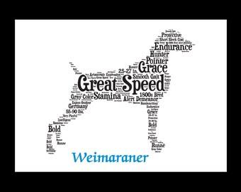 Weimaraner, Weimaraner Art, Weimaraner Artwork, Weimaraner Print, Weimaraner Lover, Weimaraner Gift