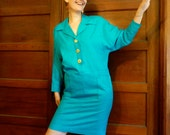 SALE--20% OFF Listing Price--Awesome Electric Blue Shift Dress size 10