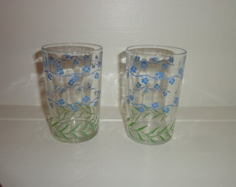 Floral Juice Glasses