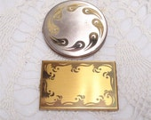 Pair Vintage Pilcher Compact Gold Plate