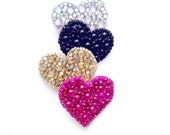 Gem Encrusted Heart Clip