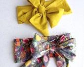 Baby Head wrap / Turban / Headband / Large headwrap / Toddler head wrap / Bow Headband / Guguberry /  Nightfall floral