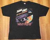 Vintage 1990s Star Trek Next Generation STNG T-Shirt SciFi Space Original