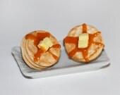 Pancake Stud Earrings - Food Earrings - Food Jewelry - Clay food