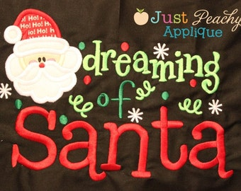 Dreaming of Santa - Appliqued and Embroidered