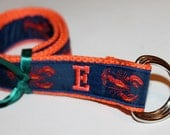 Kids Lobster Belt Initial Belt Name Belt Monogram Belt Lobster MonogrAm Belt Kids Nautical belt Toddler Lobster Belt  Preppy Preschool Belt