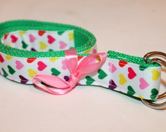 Girls Heart Belt Girls Belt with Hearts Heart Ribbon Belt Girls Ribbon Belt Cinch belt for Girls Tween Belt Teen Belt Toddler Belt