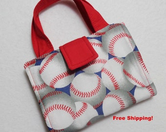 Baseball Print Crayon Wallet. Free USPS First Class Shipping/ Ready to ship.
