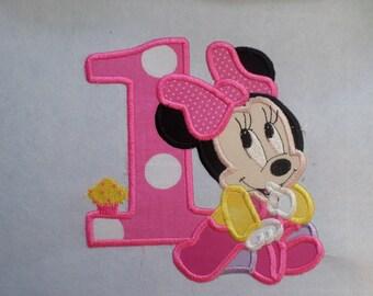 Baby Minnie Birthday patch