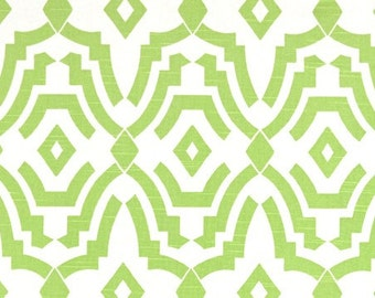 Kiwi Green Chevelle Geometric Curtains. Pair of Two Window Drapes. Green Modern Curtains. Drapery.