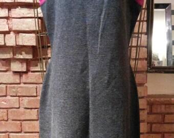 Vintage Gray A-line Dress