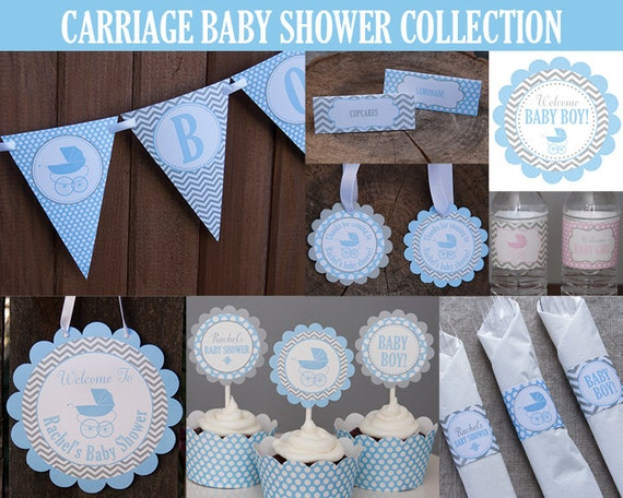 Carriage baby shower decoration party package baby for Baby shower decoration packages