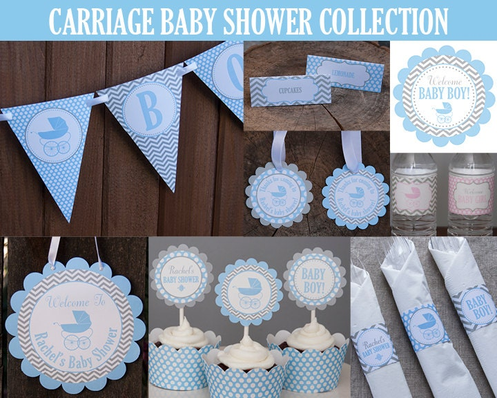 Carriage baby shower decoration party package baby shower for Baby shower decoration packages