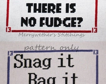 Warehouse 13 - Bundle - Cross Stitch PATTERNS (includes 2 patterns)
