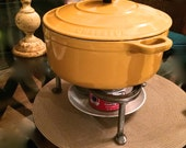 Cast iron pot stand, great as fondue stand, for sauces, chili, soups, cooking outdoors