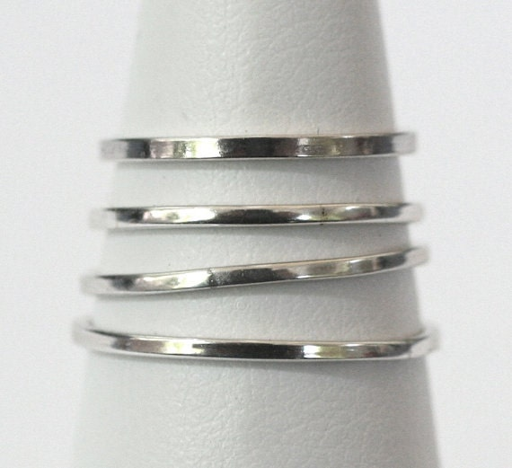4 Smooth Stackable Rings in 925 Sterling Silver Any Size