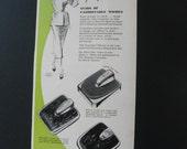 50s Beauty Ad Counselor Bathroom Scale Midcentury Advertisement 1950s Beauty Advice Fashionable Women Svelte Figure Paper Arts Frame It
