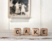 Vintage Letter Cubes CAKE