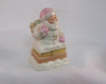 Lenox Treasures Santa's Special Delivery Trinket Box