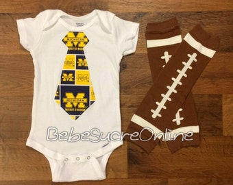 University of Michigan Boys Bodysuit and Leg Warmers