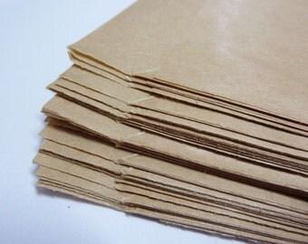 100 paper bags, brown, 9,5 x 14,8cm