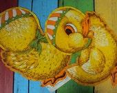 Vtg. Baby Duck Pillow Cutout Stuff Sew SWEET!!