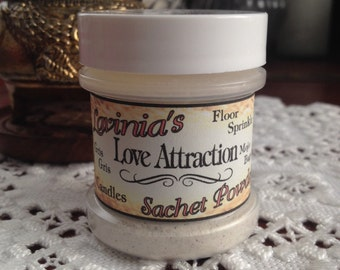 Love Attraction Sachet Powder - Love -Hoodoo-Spiritual-Wicca-Pagan-Folk Magic - Witchcraft
