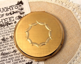 Vintage Stratton Compact, Powder Compact, Gold, Make Up Mirror, Vanity Mirror