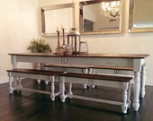 The Big Farm Table - 8 Feet Long Made with Reclaimed Wood by Arcadian Cottage