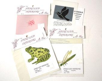 STENCILS - Set of 4 Nature Stencils from Stenciled Interiors, Hockessin, DE - free shipping