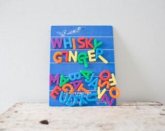 Vintage Magnetic Letters - Letter Board Vintage Magnet Letterboard ABC Magnets
