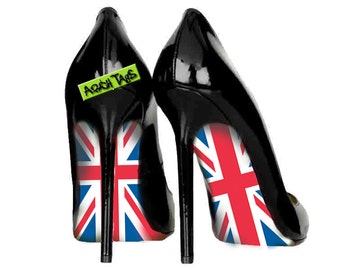 UK flag British union jack shoes wedding tea