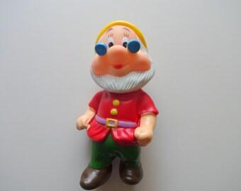 Vintage Snow White Doc Dwarf Squeak Toy
