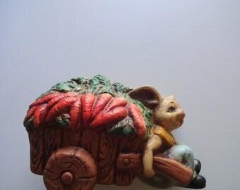 Vintage Rabbit Ceramic Bank 1970s