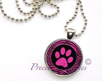 Beautiful Cat print Pendant Necklace