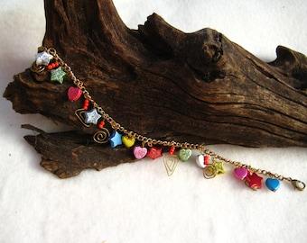 Funky Sparkle Charm Bracelet