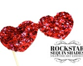 Photo Booth Props - Rockstar Sequin Glitter Sunglasses - SWEETHEART  EDITION - Birthdays, Weddings, Parties - Photobooth Props