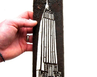 Hand painted Empire State Building Metal Sculpture