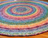 Made to Order 6 foot Rainbow Rug/Rugs/Rug/Round Rugs/Round Rug/Area Rugs/Large Floor Rugs/Nursery Rugs/Crochet Rugs/Handmade Crochet Rugs