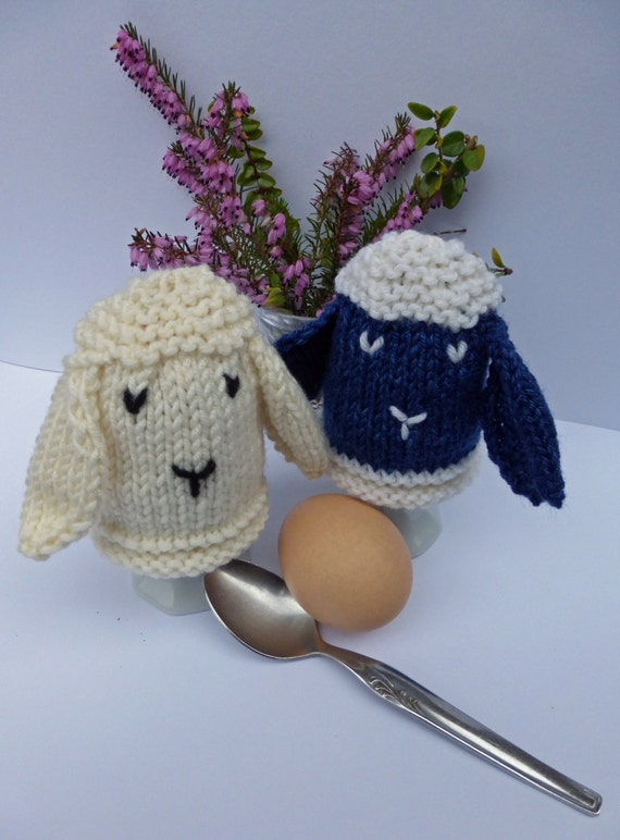 KNITTING PATTERN in PDF Easter Sheep Egg Cosies