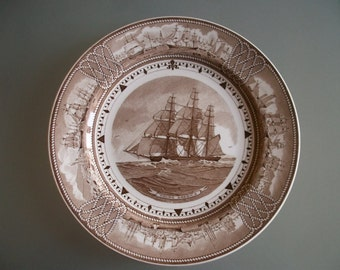 Wedgwood Plate 'YOUNG AMERICA' American Clipper Ships series 1948