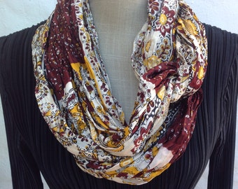 Sari Silk infinity scarf  FREE SHIPPING