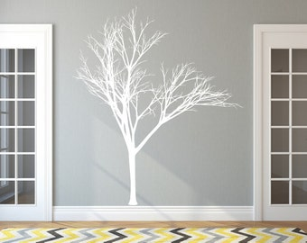 Winter Tree Style 2B Large Vinyl Wall Decal - Bare Tree Wall Decal - Tree Wall Decor - Bare Tree Decal 22221