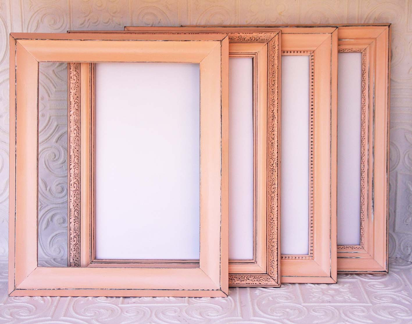 Peach Wedding Frame Your Choice Size & Style Vintage Hand Painted ...