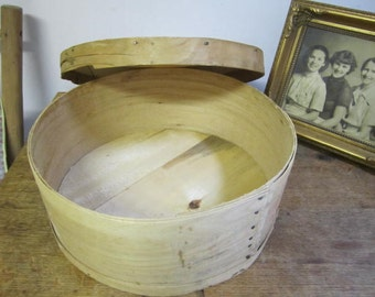 Vintage Wooden Cheese Box.  Cheese box. Primitive cheese box. Rustic cheese box