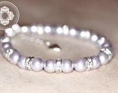 Swarovski Crystal Classic Pearl Flower Girl Bracelet,  Baby bracelet, Baptism, christening, baby girl Jewellery .